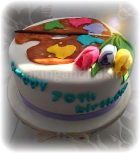 Art Palette Cake