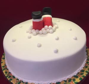Stuck Santa Christmas Cake