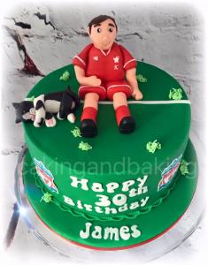 Liverpool Football Birthday Cake