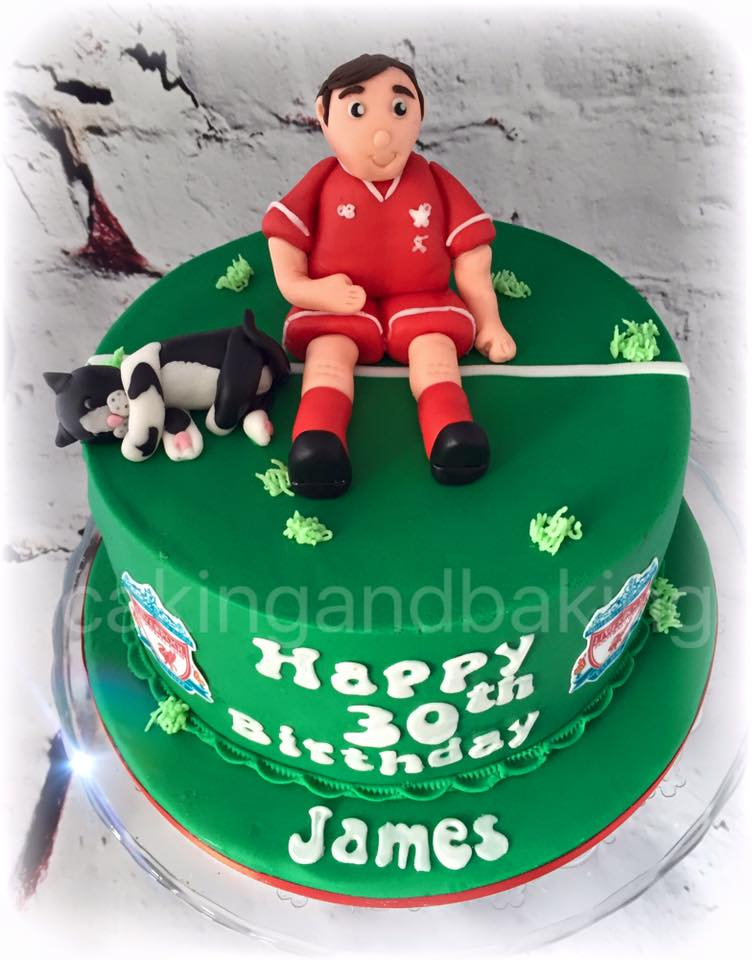 Liverpool Football Birthday Cake Caking And Baking Sweet As
