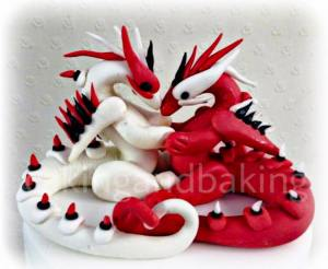 Dragon Wedding Cake Topper