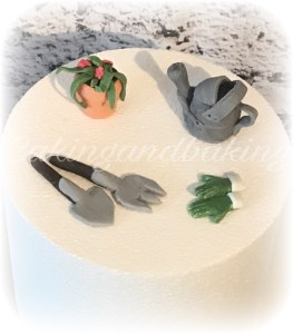 Fondant Gardening Tools Cake Toppers