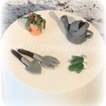 Fondant Gardening Tools Cake Toppers