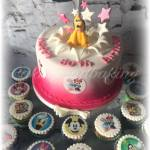 Pluto Explosion Cake