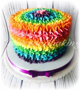 Buttercream Rainbow Cake
