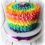 Buttercream Rainbow Cake