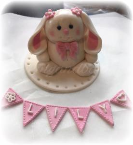 Cute Bunny Cake Topper