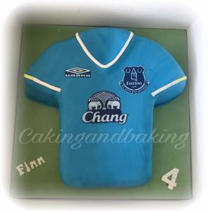 Everton Football Shirt Cake