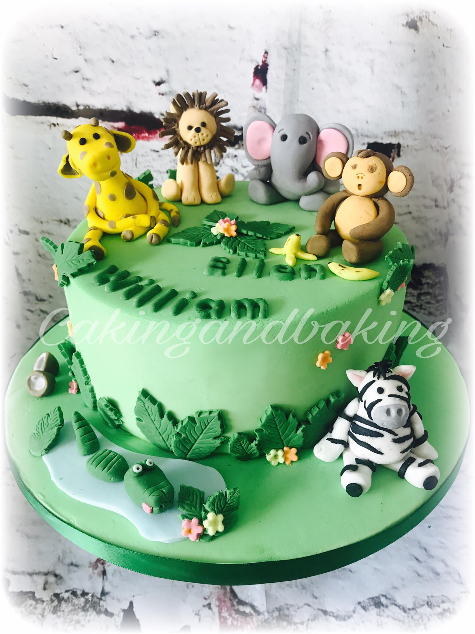 Jungle Animals Cake O Caking And Baking Leamington Spa Warwickshire