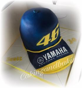 Valentino Rossi Cap Cake