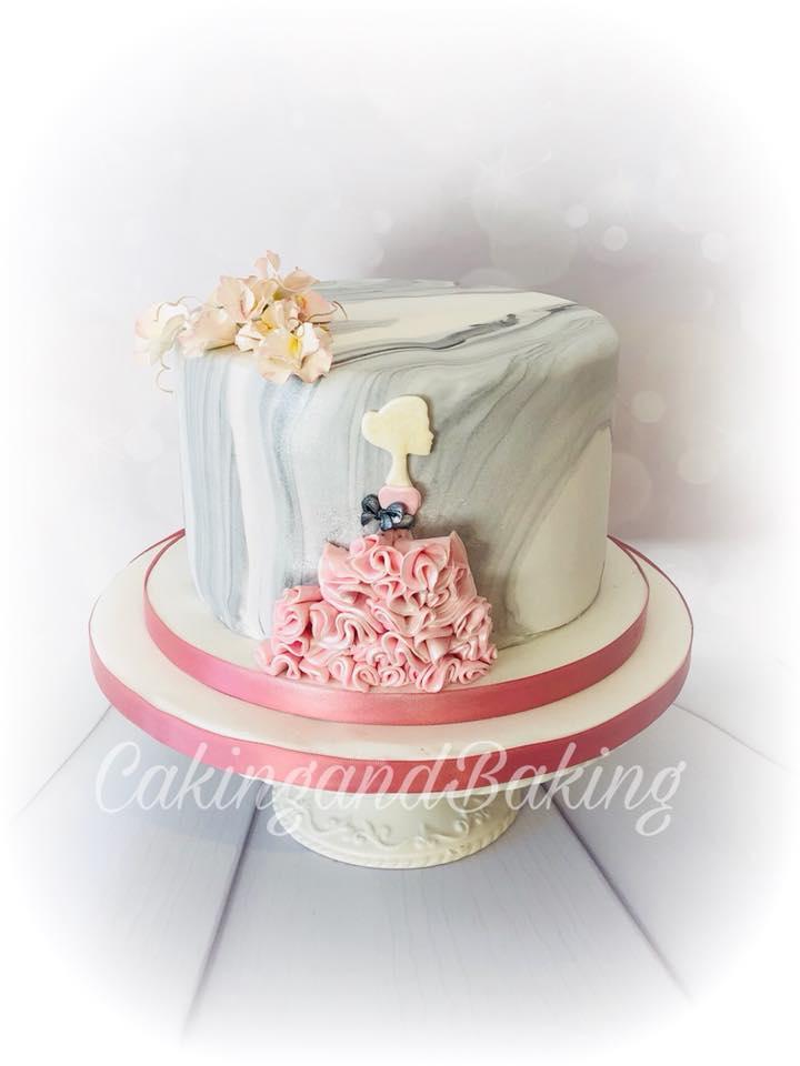 Strange Beautiful Marble Ruffle Cake Caking And Baking Leamington Spa Personalised Birthday Cards Akebfashionlily Jamesorg