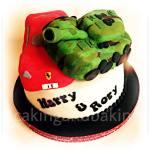 Ferrari & Tank Cake