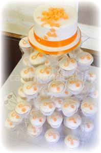 Wedding Cupcake Tower - Apricot