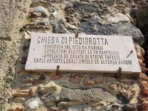 chiesa di Piedigrotta targhetta
