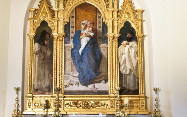 trittico altare sant agostino