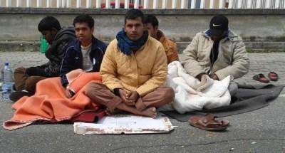 Il sit in degli immigrati alla Questura
