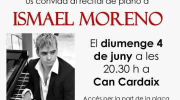 Gran recital del pianista ISMAEL MORENO al Museu CAN CARDAIX