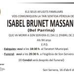 Isabel Brunet Massanet (Bel Parrina)