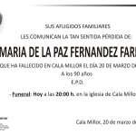 Maria de la Paz Fernández Farfan