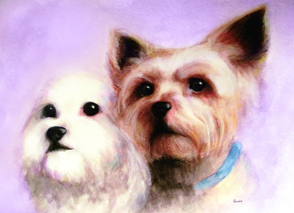 lovers || watercolor & acrylic