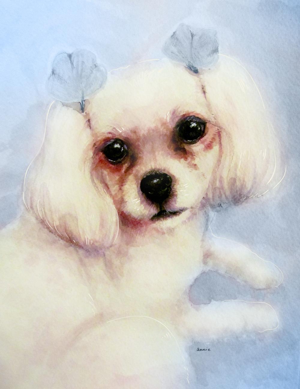 molly || watercolor & acrylic