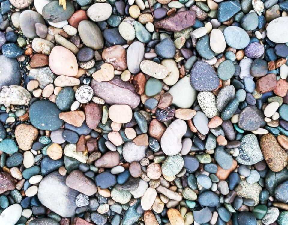 decorative rock landscape