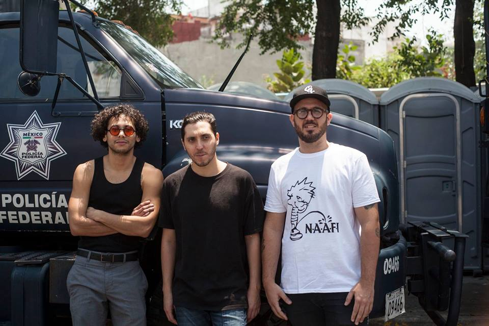 Da esquerda para direita: Alberto Bustamante, Paul Marmota e Tomás Davó