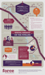 Sexual Assault on the Pipeline Infographic
