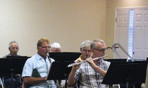 Flute and Clarinet at Band Practice