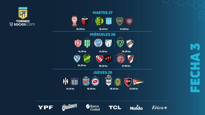 Al via la terza giornata di Primera argentina