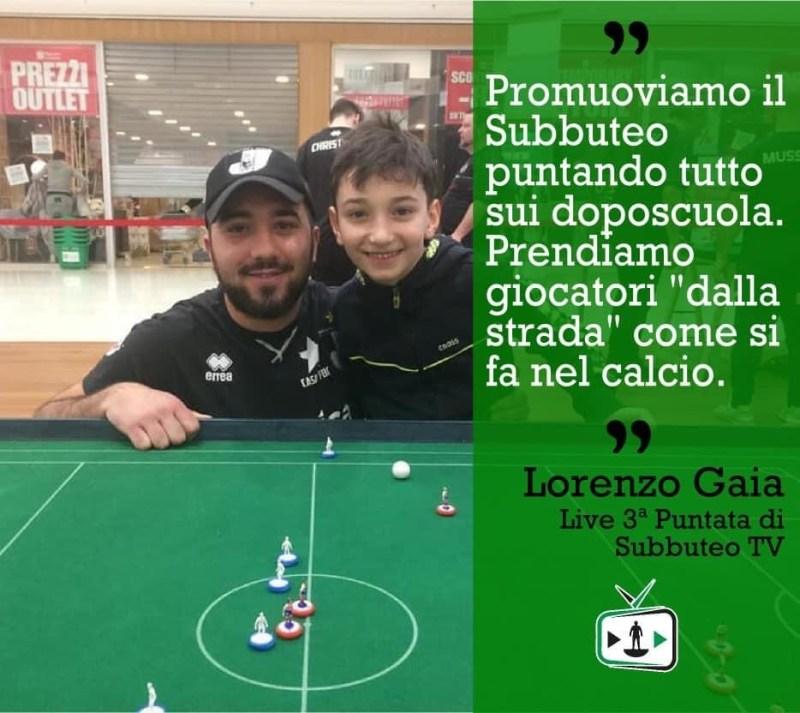 lorenzo gaia promuove il subbuteo a scuola