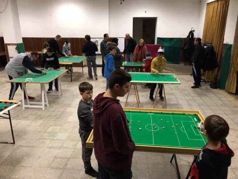 scuola calcio tavolo subbuteo gs alberino in fasi di gioco