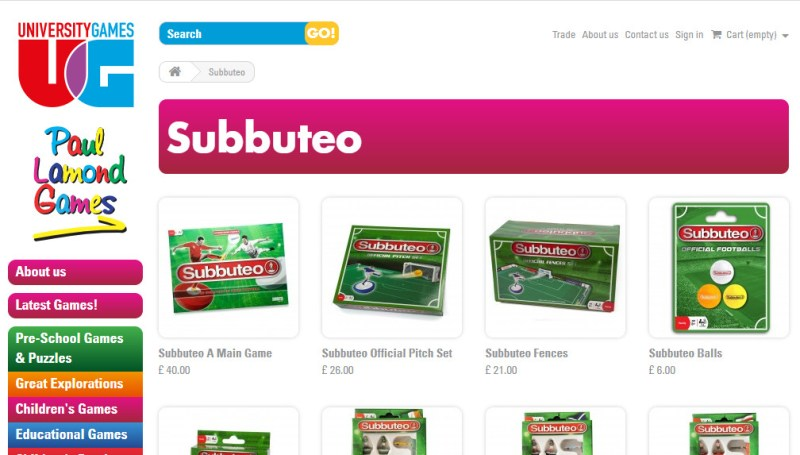 subbuteo paul lamond university games