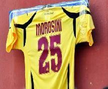 Maglia 25 Piermario Morosini (foto livornocalcio.it)