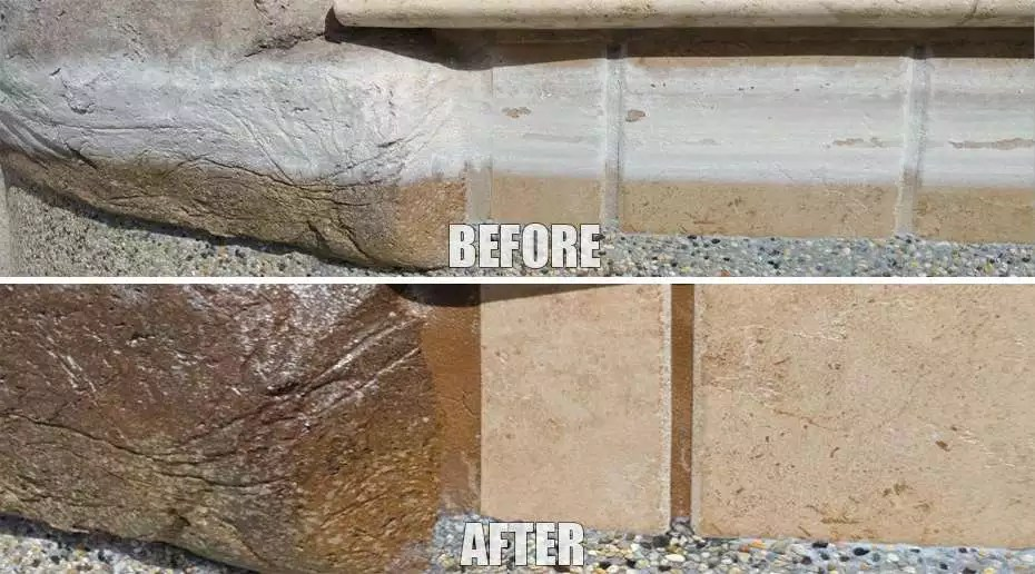 pool tile cleaning glass bead