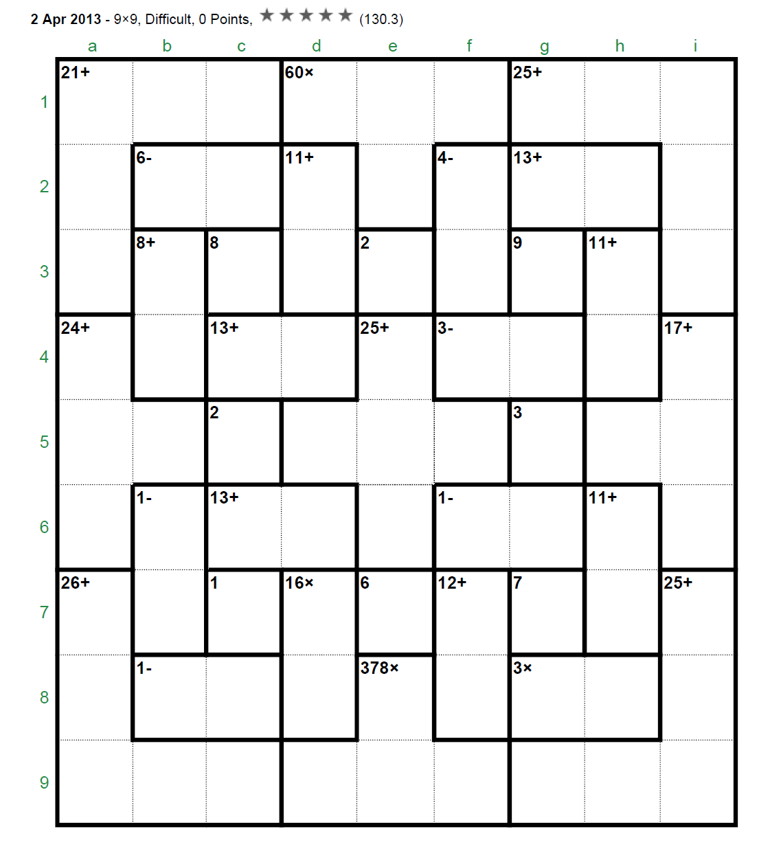 Best Printable Kenken Puzzles 9 9