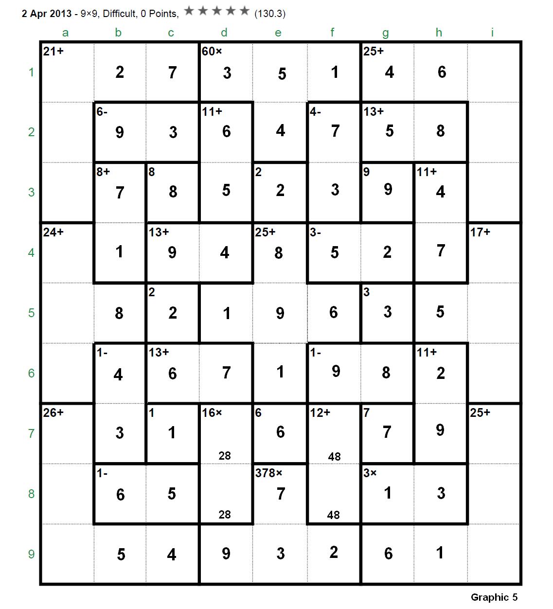 Kenken Solver 9x9