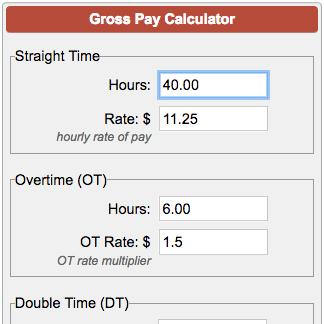 Gross Pay Calculator