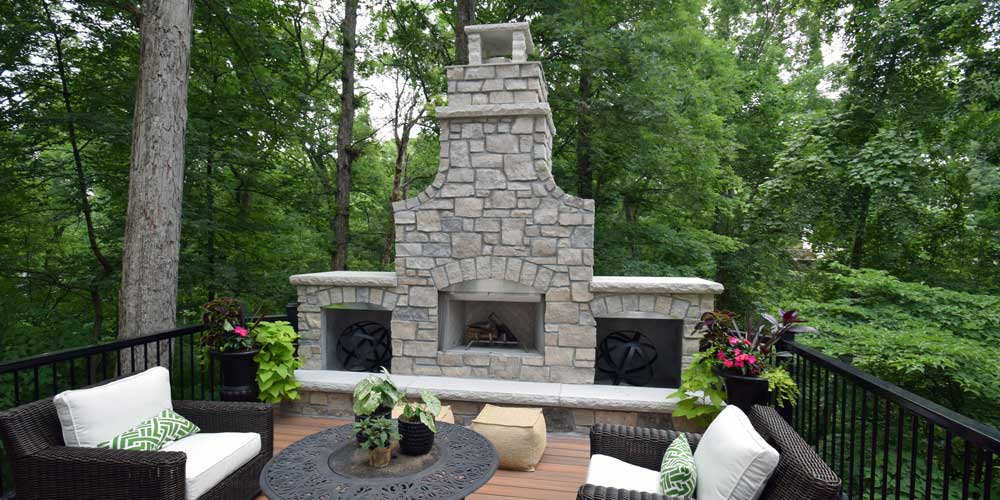 adding a fireplace to your outdoor