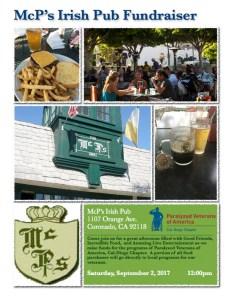 McP's Irish Pub Dining Fundraiser @ McPs Irish Pub | Coronado | California | United States
