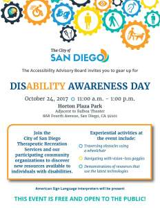 Disability Awareness Day @ Horton Plaza Park | San Diego | California | United States