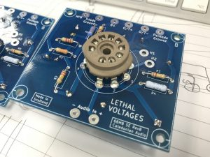 6BM8/ECL82 SE PCB during prototyping and tests stages