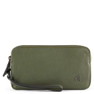 """Piquadro pochette in pelle """"B3R – Black Square"""" Verde AC5187B3R.VE"""