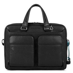"""Piquadro borsa da lavoro in pelle """"B3 – Black Square"""" Nero CA2849B3.N"""