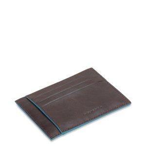 """Piquadro porta carte di credito in pelle """"B2 – Blue Square"""" Nero PP2762B2.N"""
