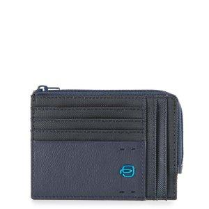 """Piquadro porta documenti in tessuto e pelle """"P16"""" Blu PU1243P16.CHEVBLU"""
