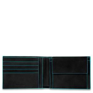 "Piquadro portafogli in pelle ""B2 – Blue Square"" Nero PU257B2.N"