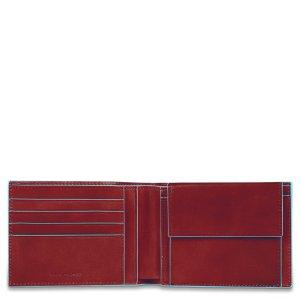 """Piquadro portafogli in pelle """"B2 – Blue Square"""" Rosso PU257B2.R"""