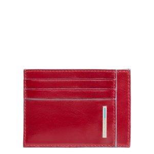 """Piquadro porta carte di credito in pelle """"B2 – Blue Square"""" Rosso PP2762B2.R"""