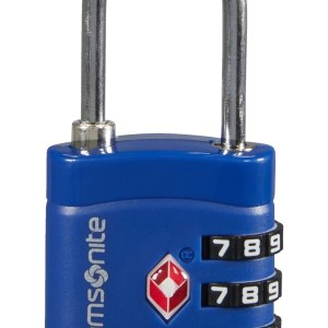 """Samsonite lucchetto in metallo e pvc """"Travel"""" Blu 122290.1549 midnight blue"""